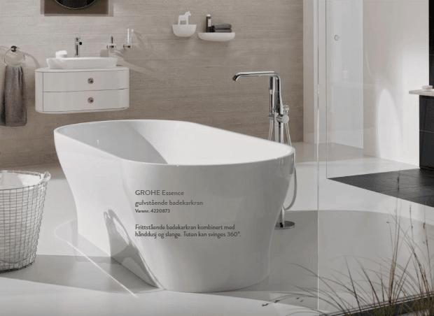 frittstående badekar